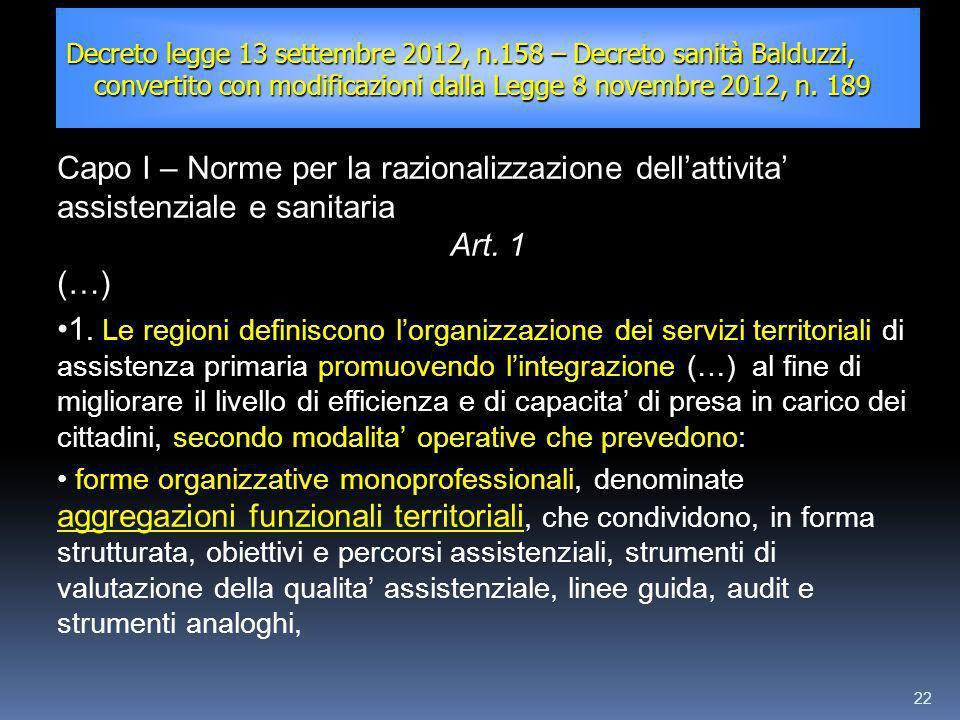 Decreto legge 13 settembre 2012, n