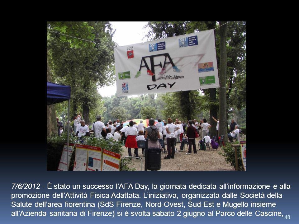 7/6/2012 - È stato un successo l'AFA Day, la giornata dedicata all'informazione e alla promozione dell'Attività Fisica Adattata.