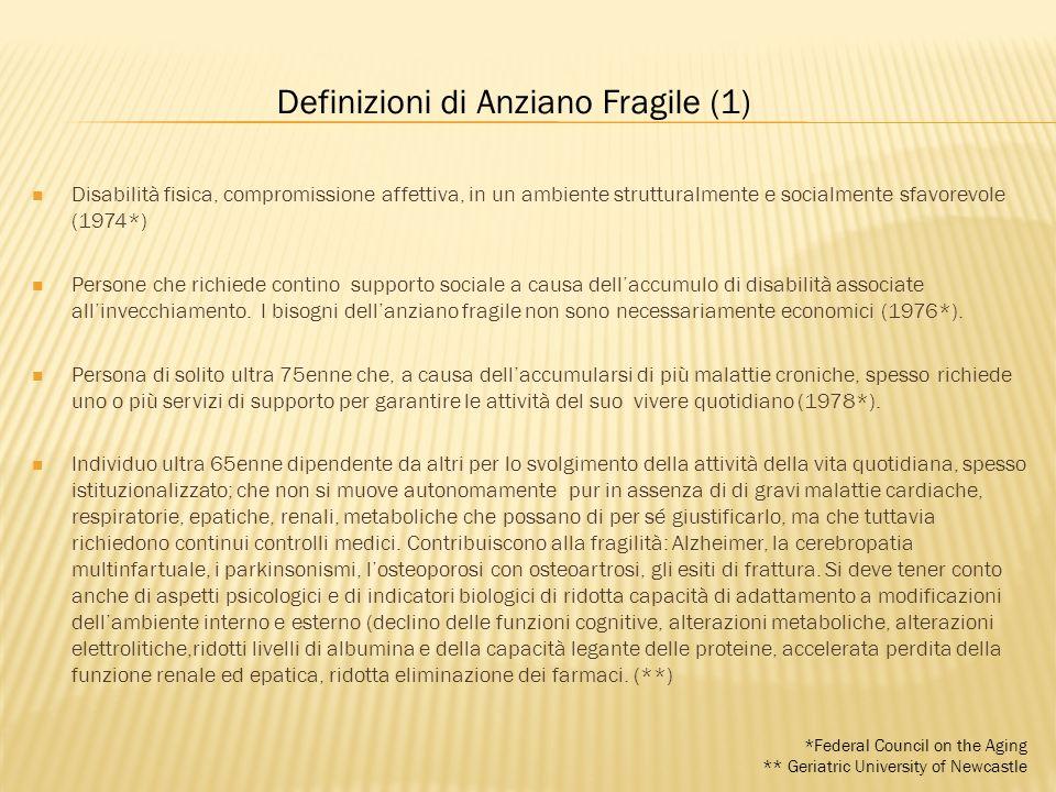 Definizioni di Anziano Fragile (1)