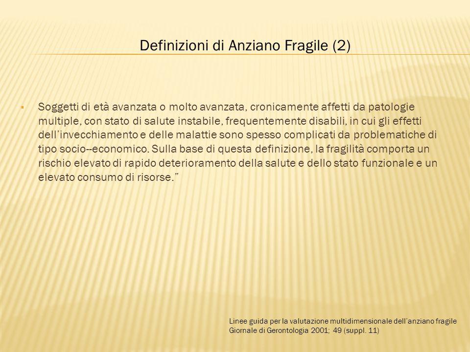 Definizioni di Anziano Fragile (2)