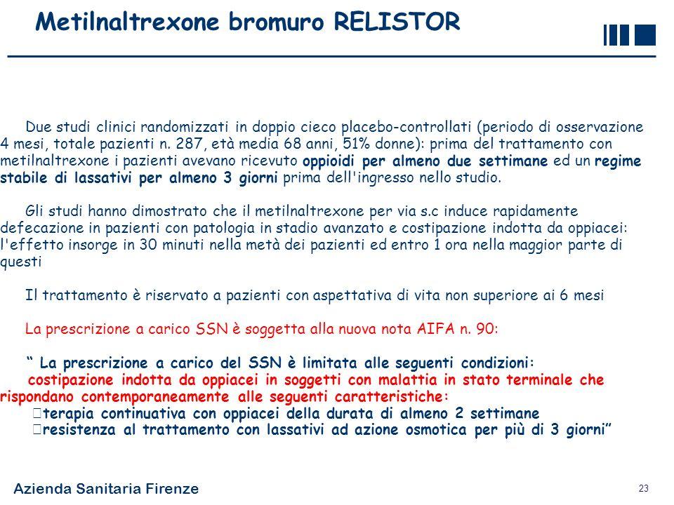 Metilnaltrexone bromuro RELISTOR