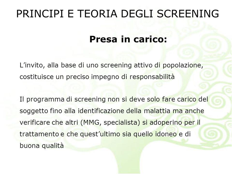 PRINCIPI E TEORIA DEGLI SCREENING