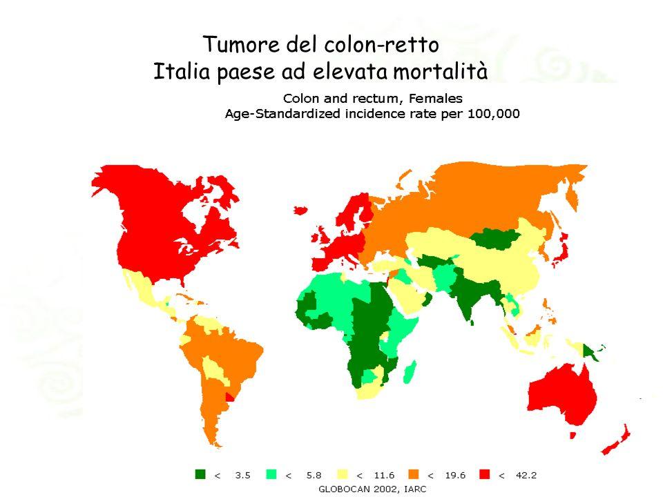 Tumore del colon-retto Italia paese ad elevata mortalità