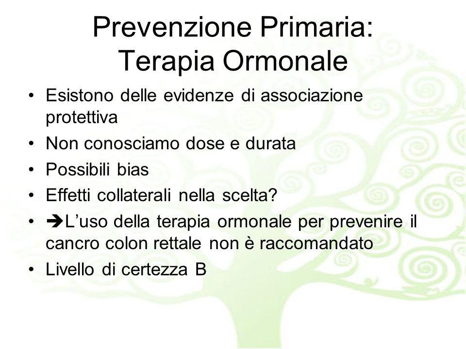 Prevenzione Primaria: Terapia Ormonale