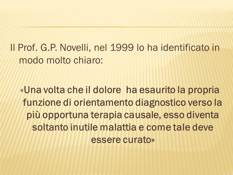 Il Prof. G.P. Novelli, nel 1999 lo ha identificato in modo molto chiaro: