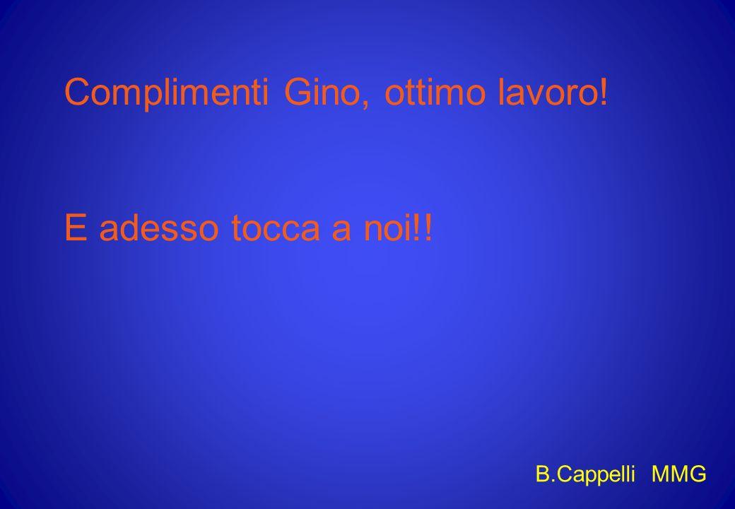 Complimenti Gino, ottimo lavoro!