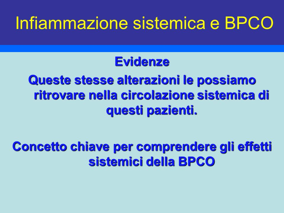 Infiammazione sistemica e BPCO