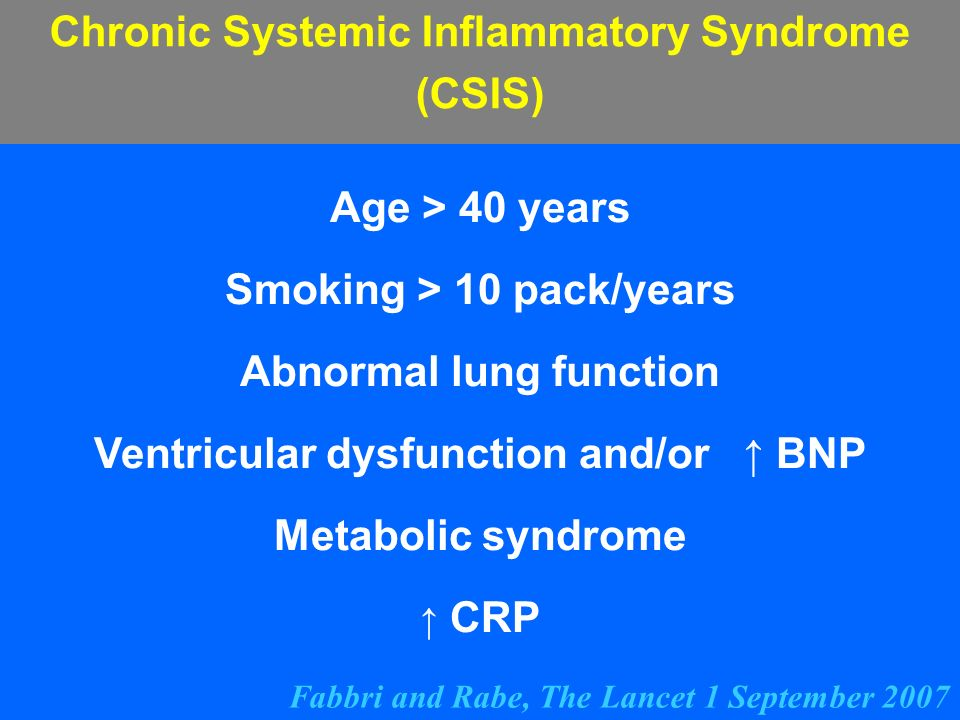 Chronic Systemic Inflammatory Syndrome (CSIS)