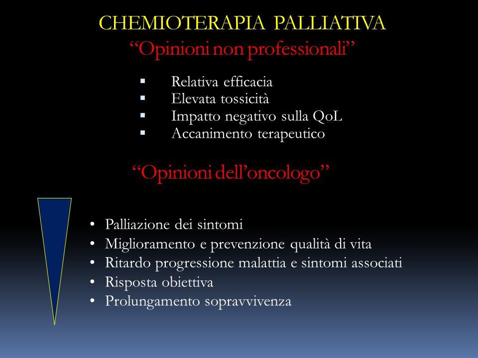 CHEMIOTERAPIA PALLIATIVA Opinioni non professionali
