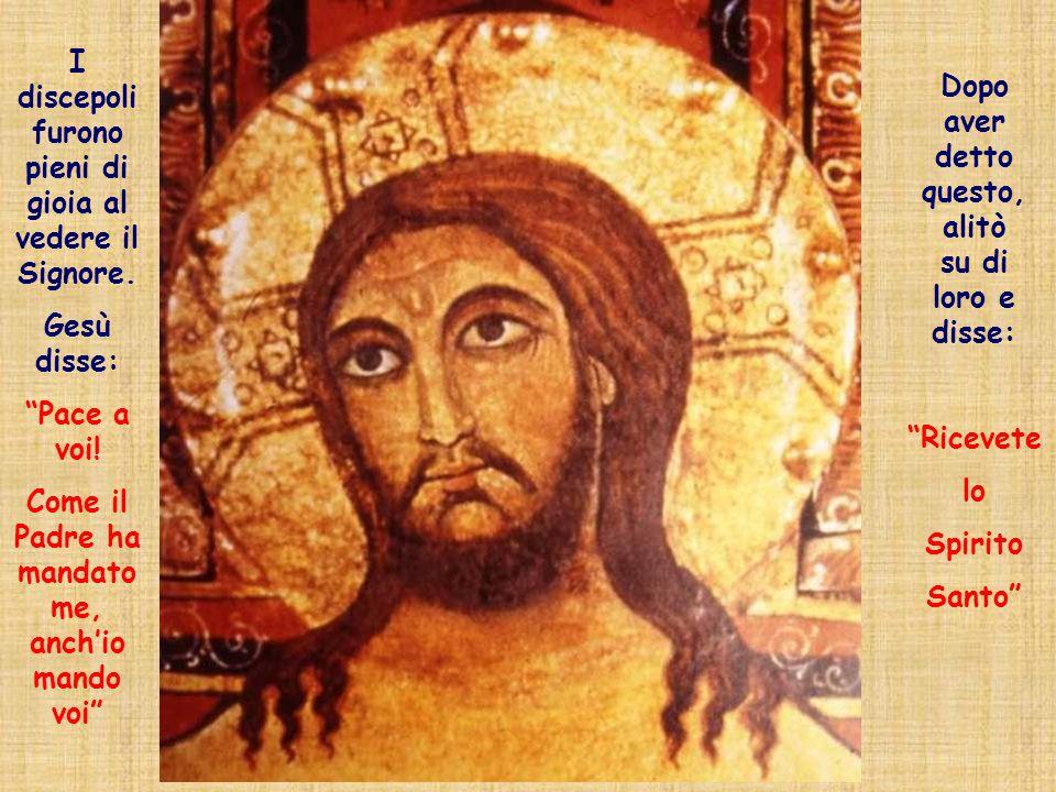 I discepoli furono pieni di gioia al vedere il Signore.
