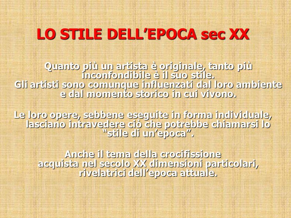 LO STILE DELL'EPOCA sec XX