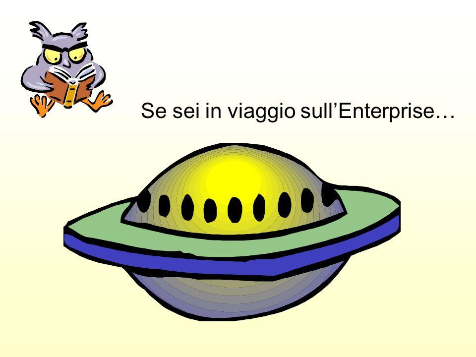 Se sei in viaggio sull'Enterprise…