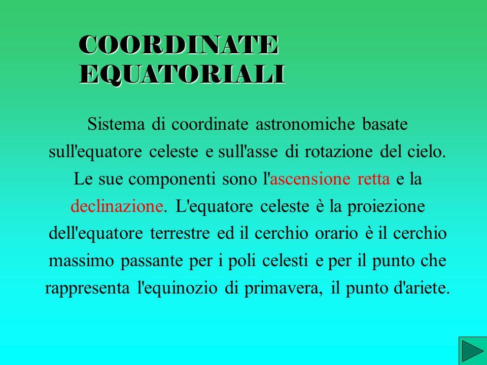 COORDINATE EQUATORIALI