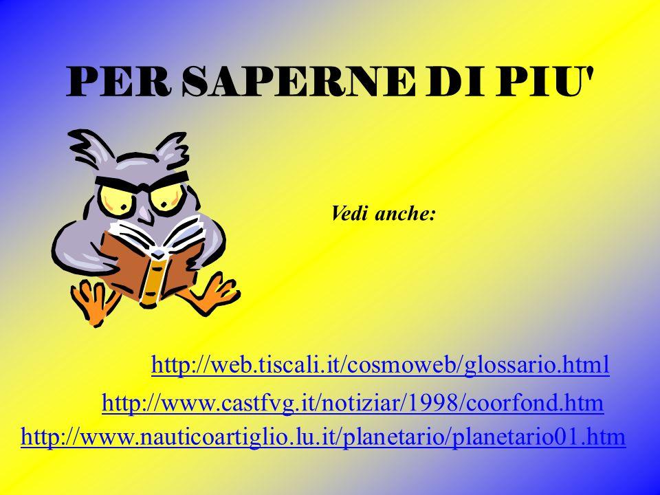 PER SAPERNE DI PIU http://web.tiscali.it/cosmoweb/glossario.html