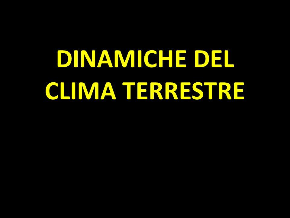 DINAMICHE DEL CLIMA TERRESTRE