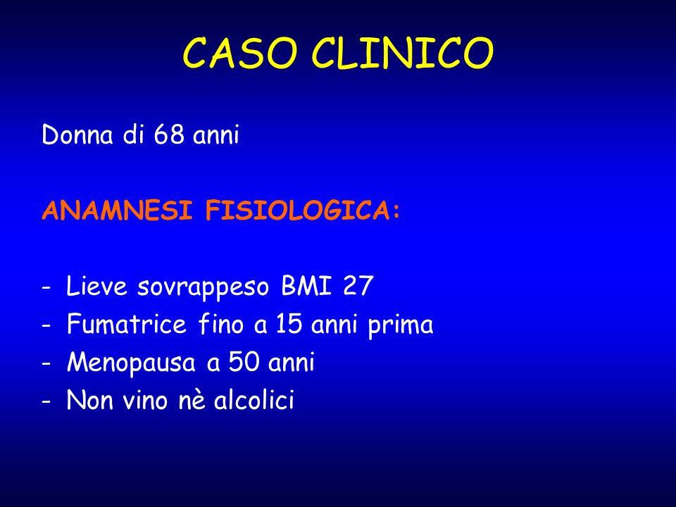 CASO CLINICO Donna di 68 anni ANAMNESI FISIOLOGICA: