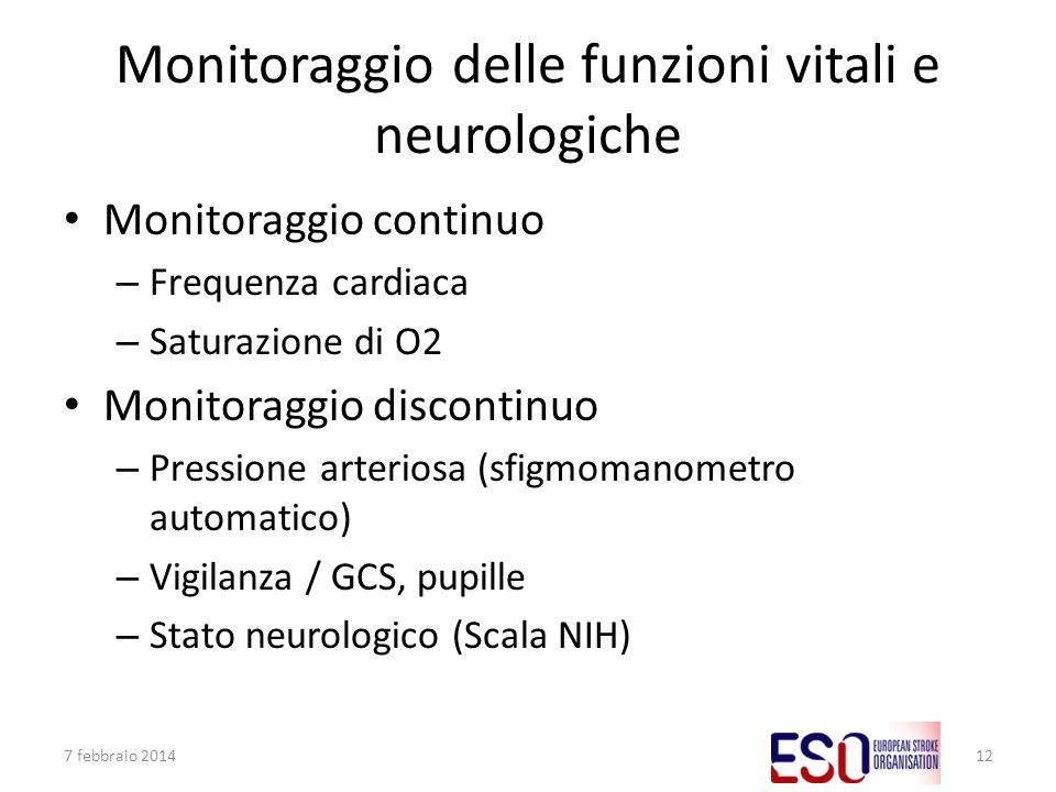 Monitoraggio delle funzioni vitali e neurologiche