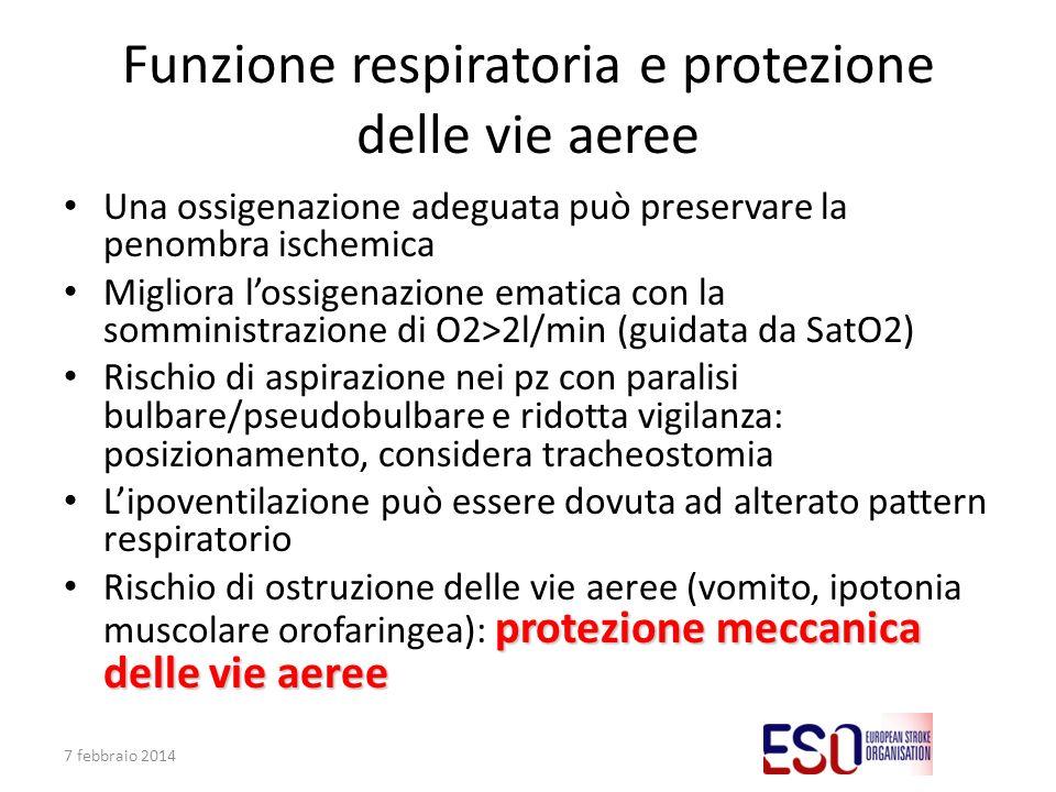 Funzione respiratoria e protezione delle vie aeree