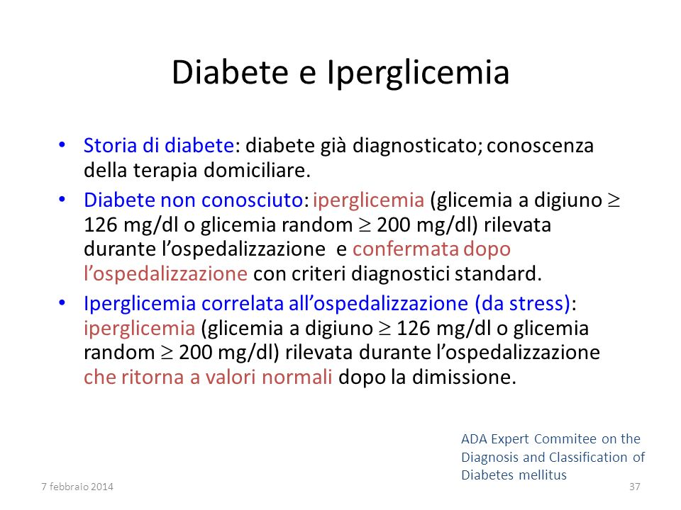 Diabete e Iperglicemia