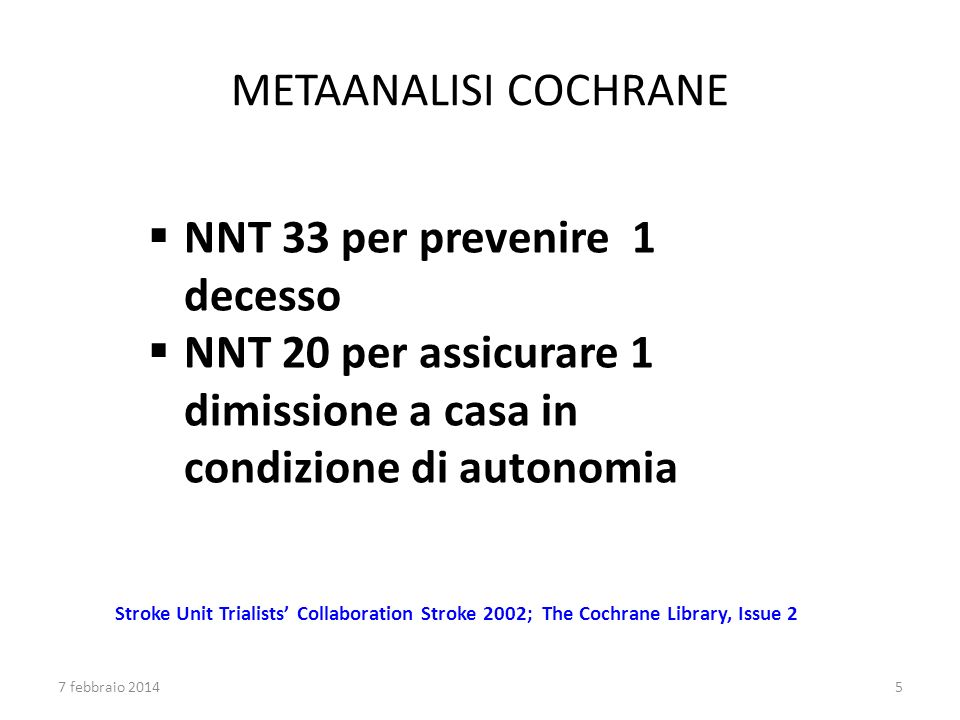 NNT 33 per prevenire 1 decesso