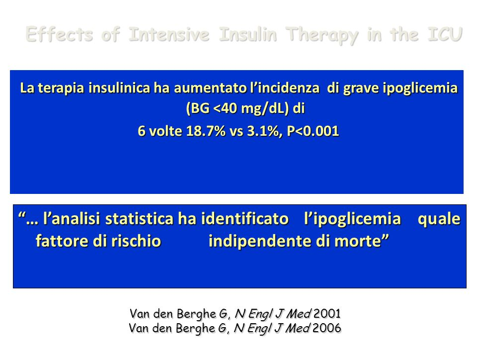 Effects of Intensive Insulin Therapy in the ICU