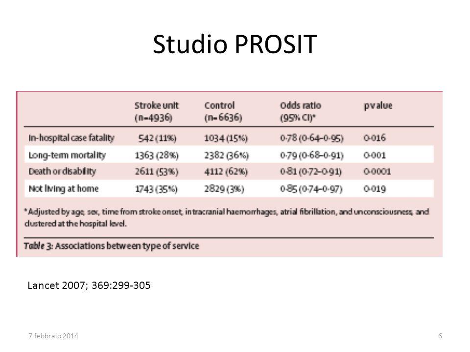 Studio PROSIT Lancet 2007; 369:299-305 27 marzo 2017