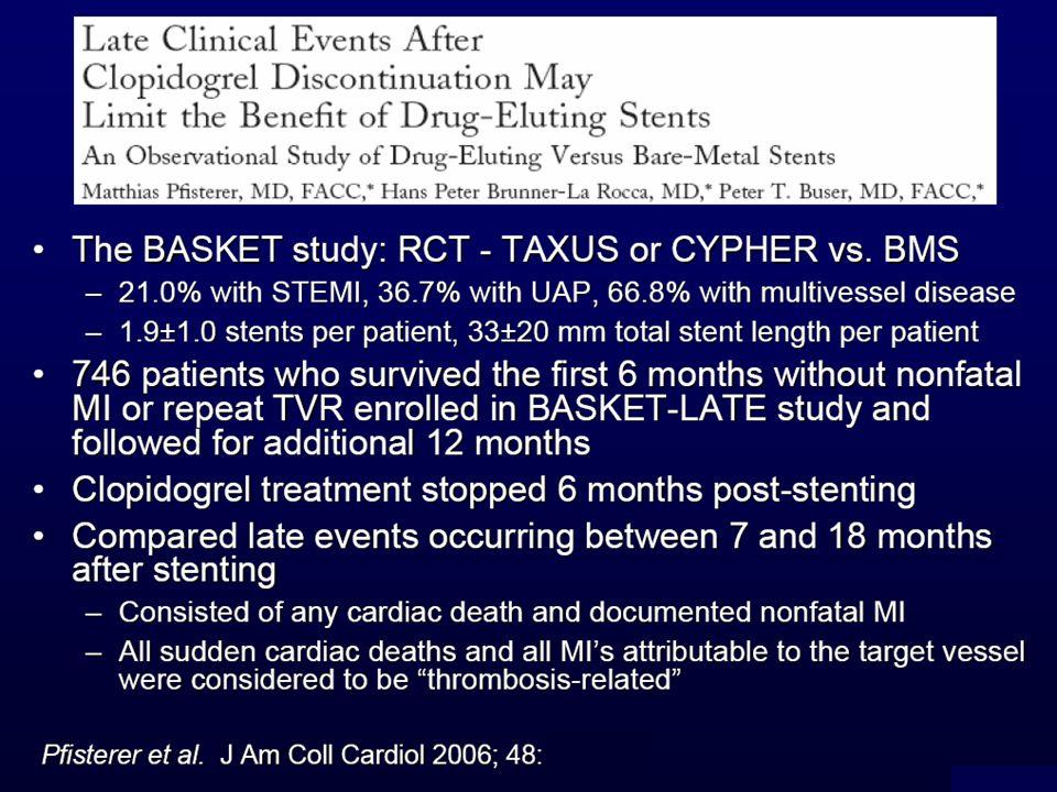 Pfister et al. hanno randomizzato 746 pazienti (1131 lesioni) tra DES e BMS.