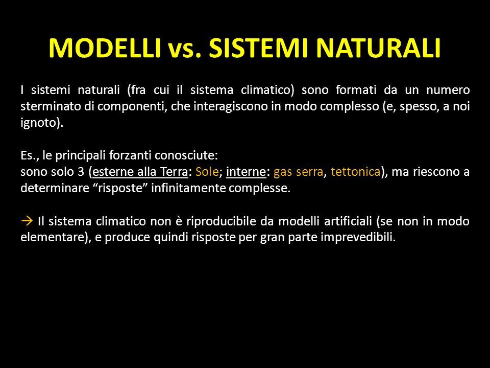 MODELLI vs. SISTEMI NATURALI