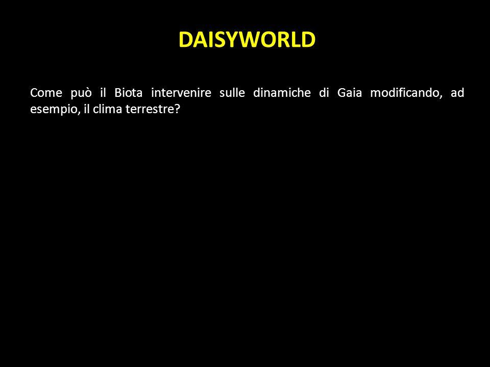 DAISYWORLD Come può il Biota intervenire sulle dinamiche di Gaia modificando, ad esempio, il clima terrestre