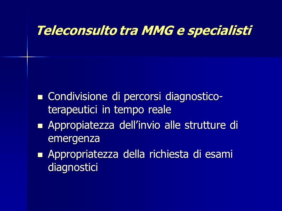 Teleconsulto tra MMG e specialisti