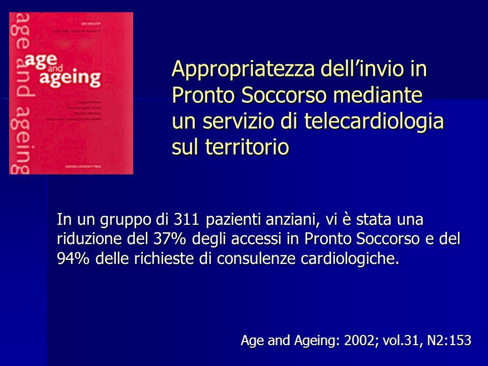 Appropriatezza dell'invio in Pronto Soccorso mediante un servizio di telecardiologia sul territorio