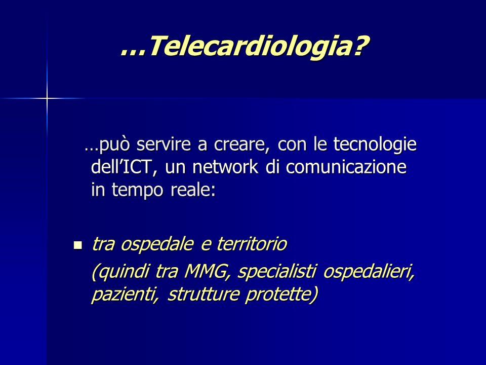 …Telecardiologia tra ospedale e territorio