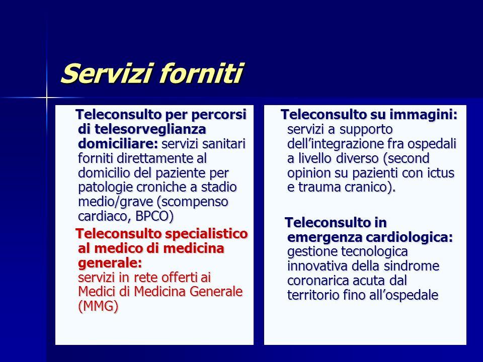Meeting 14 novembre 2006 Servizi forniti.