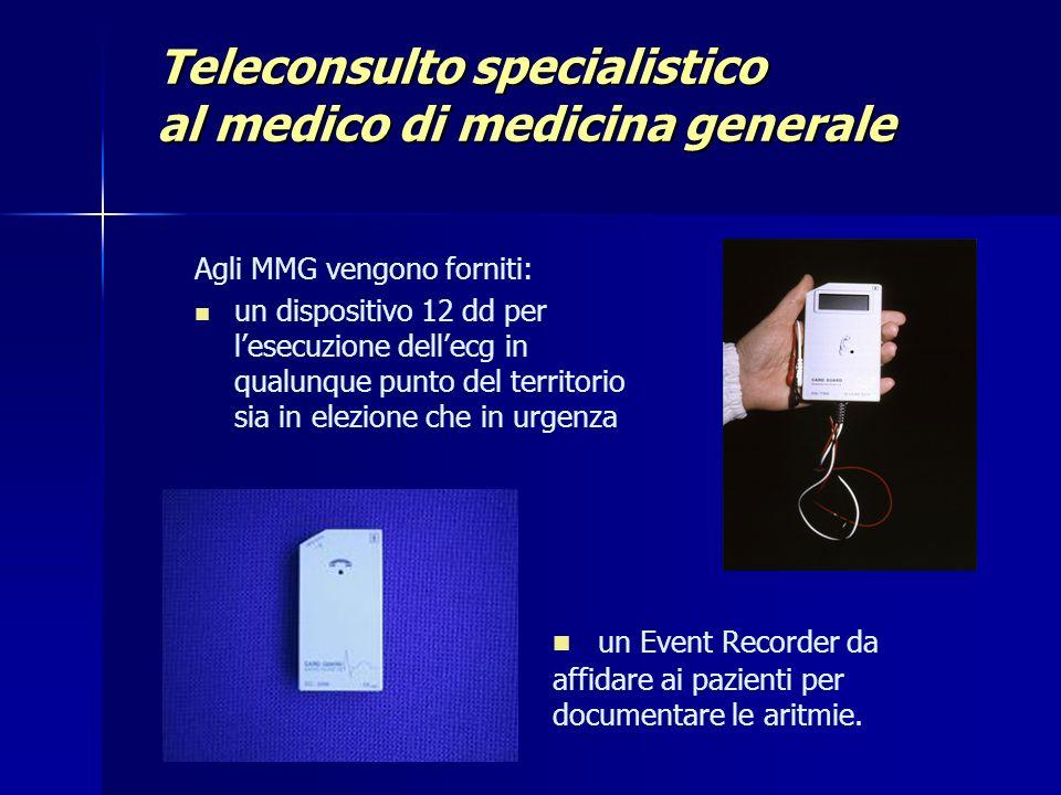 Teleconsulto specialistico al medico di medicina generale