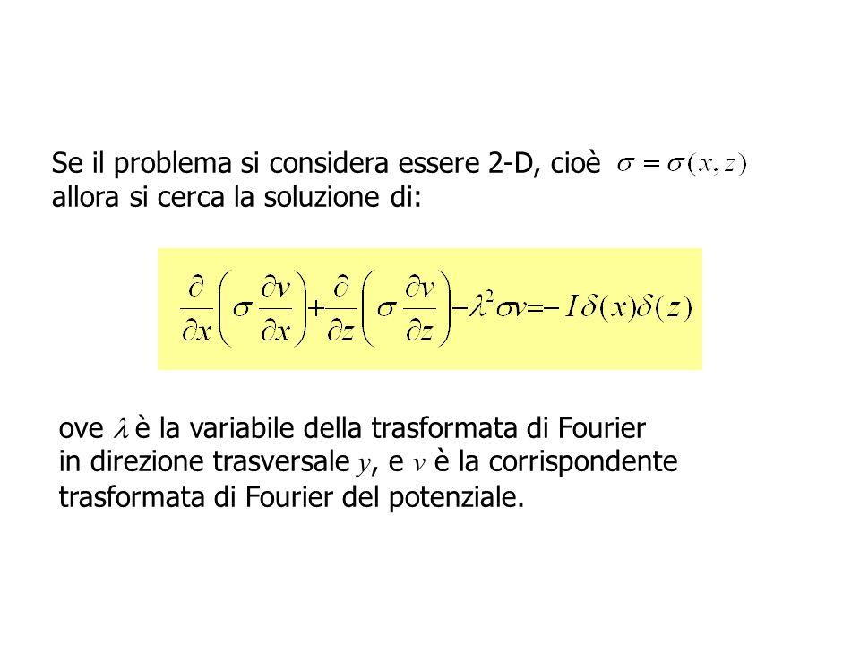 Se il problema si considera essere 2-D, cioè