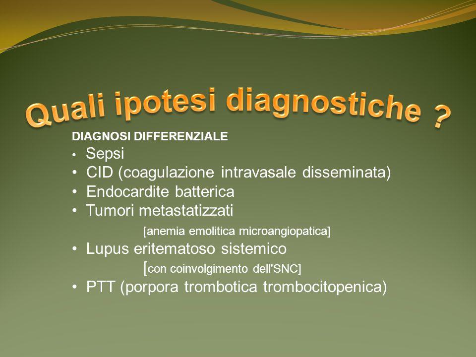 Quali ipotesi diagnostiche