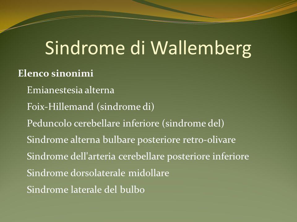 Sindrome di Wallemberg
