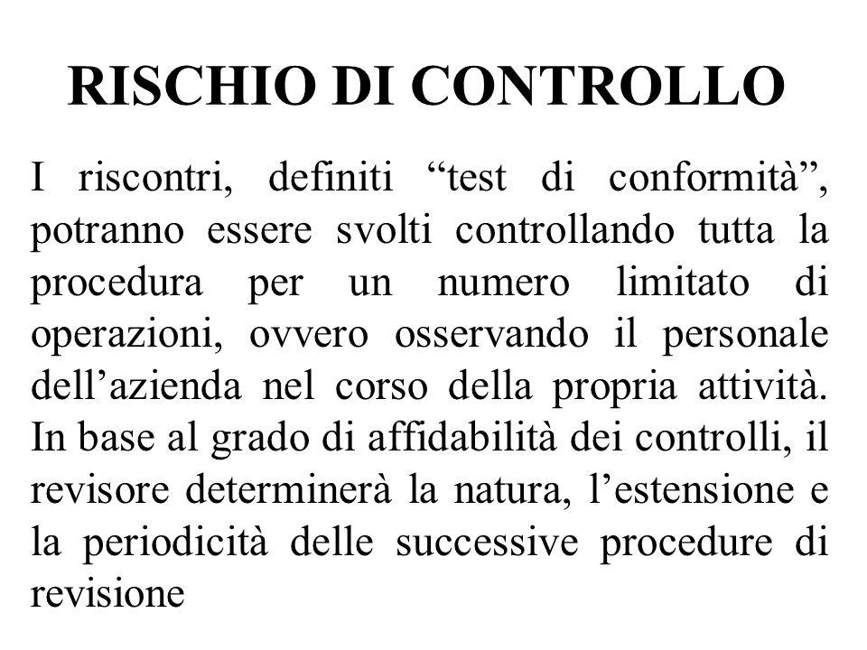 RISCHIO DI CONTROLLO