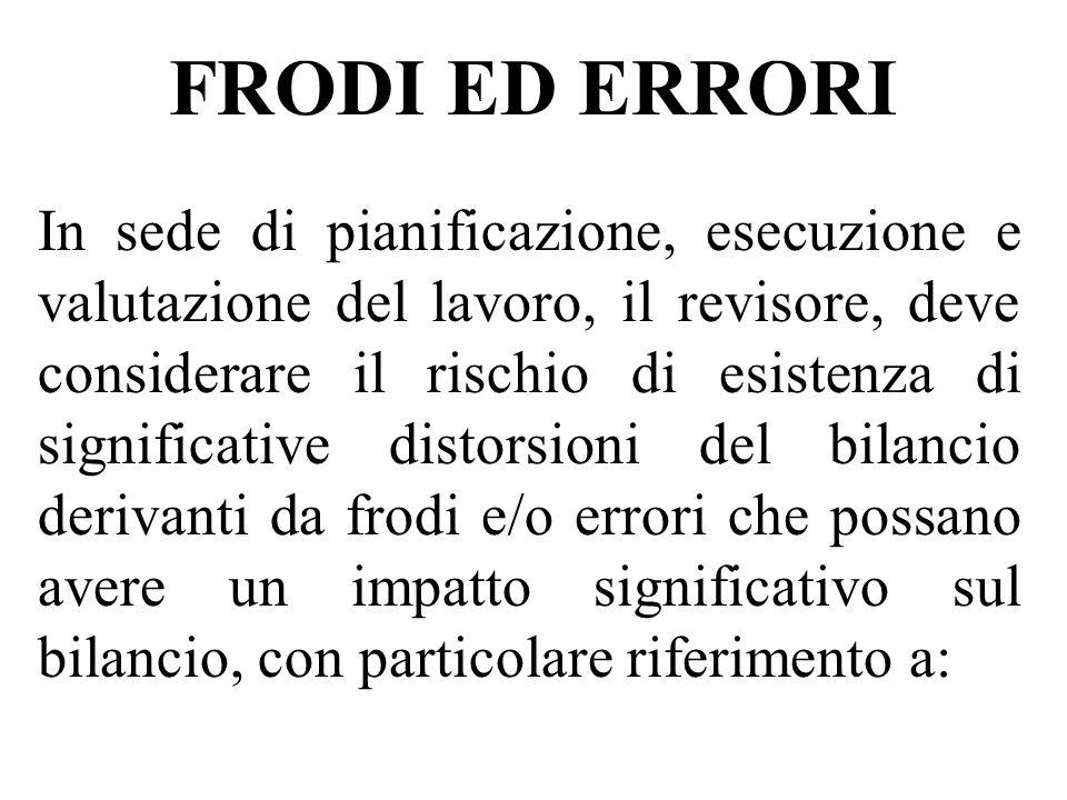 FRODI ED ERRORI