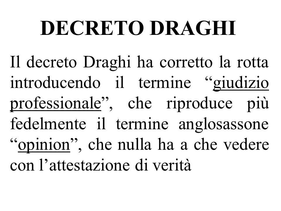 DECRETO DRAGHI
