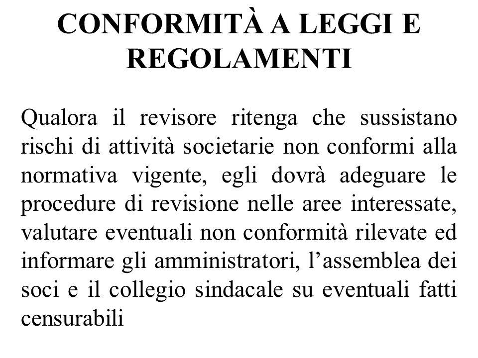 CONFORMITÀ A LEGGI E REGOLAMENTI