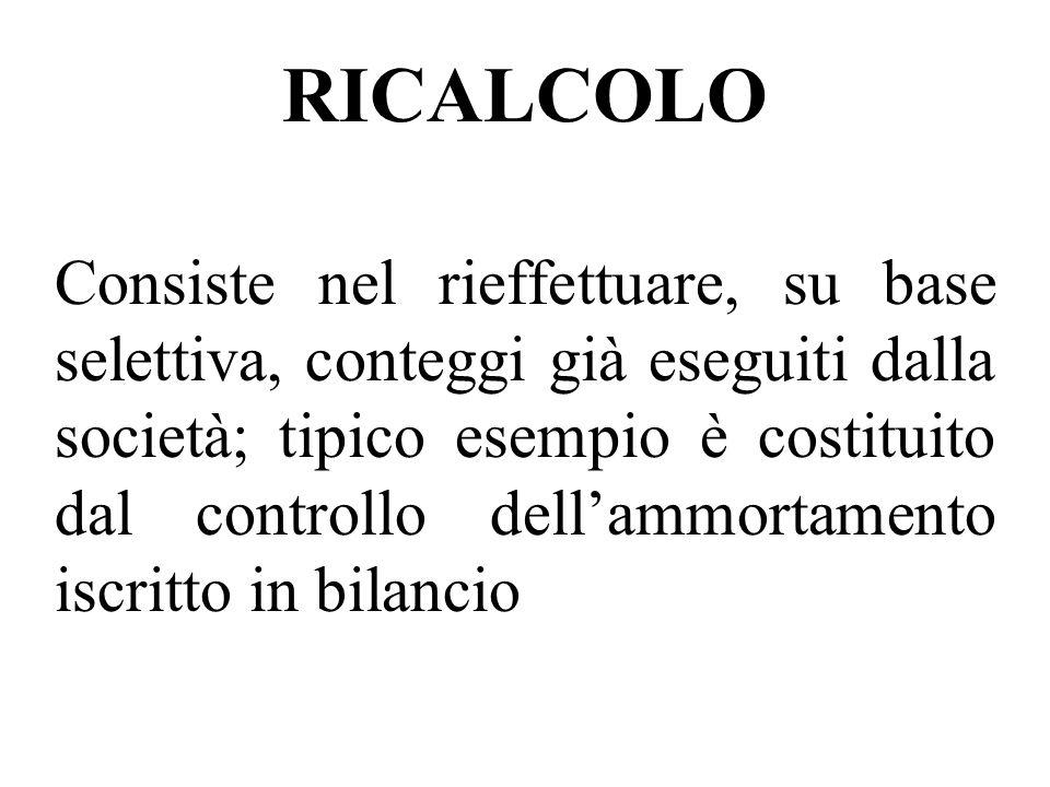 RICALCOLO