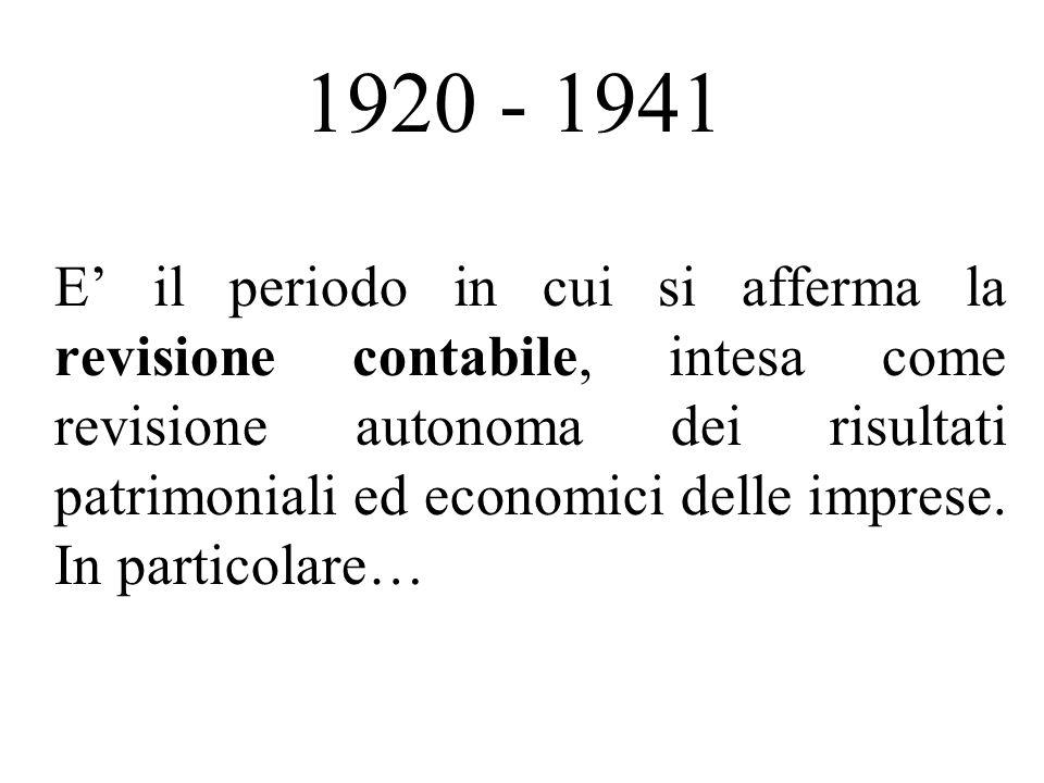 1920 - 1941