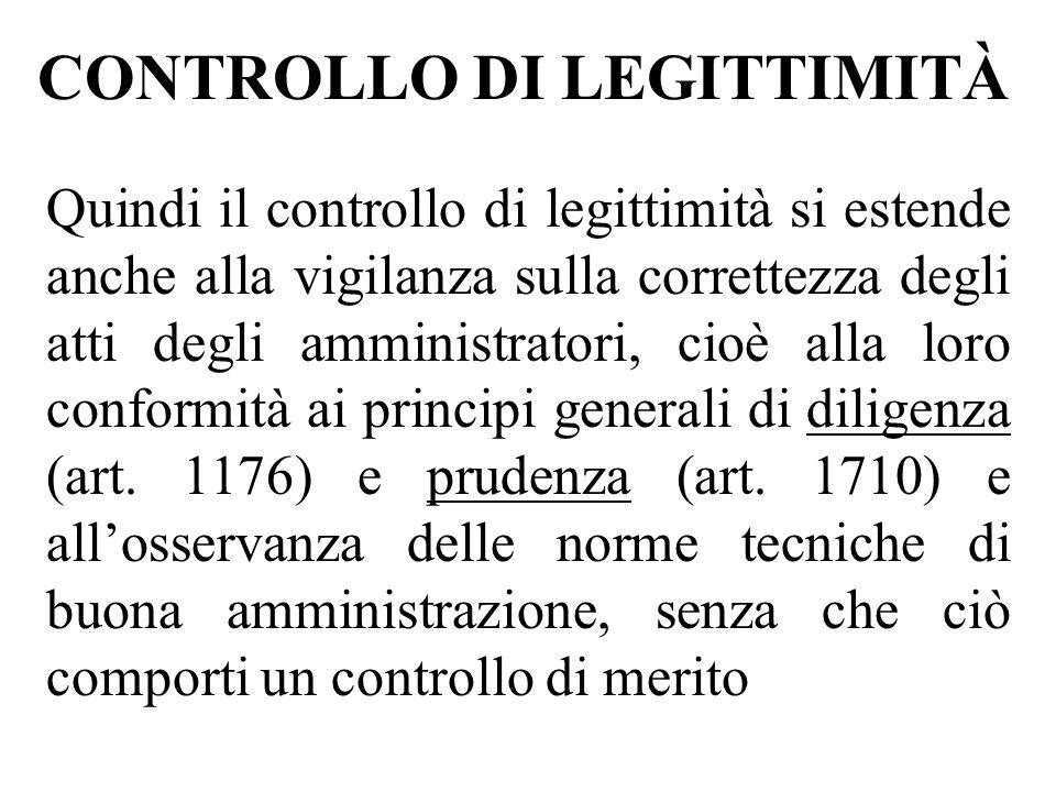 CONTROLLO DI LEGITTIMITÀ