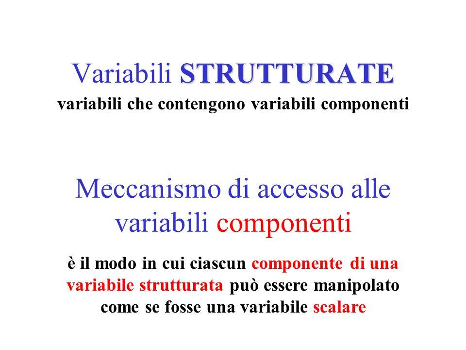 Variabili STRUTTURATE