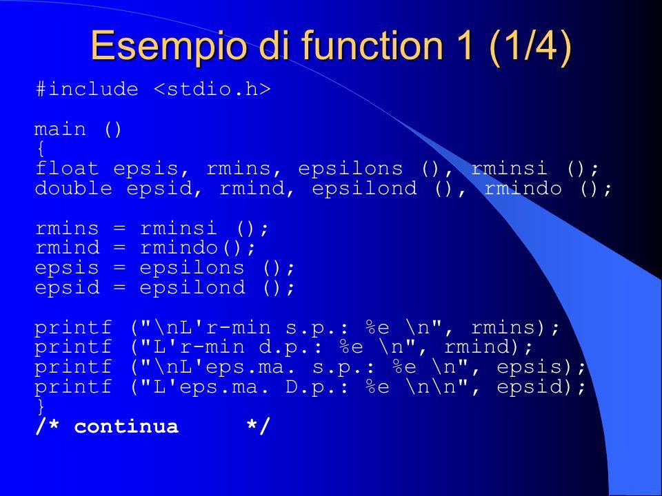 Esempio di function 1 (1/4)
