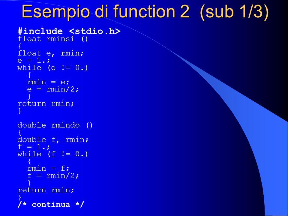 Esempio di function 2 (sub 1/3)