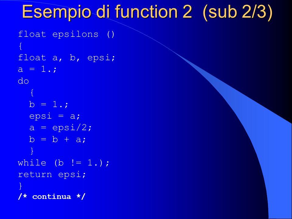Esempio di function 2 (sub 2/3)