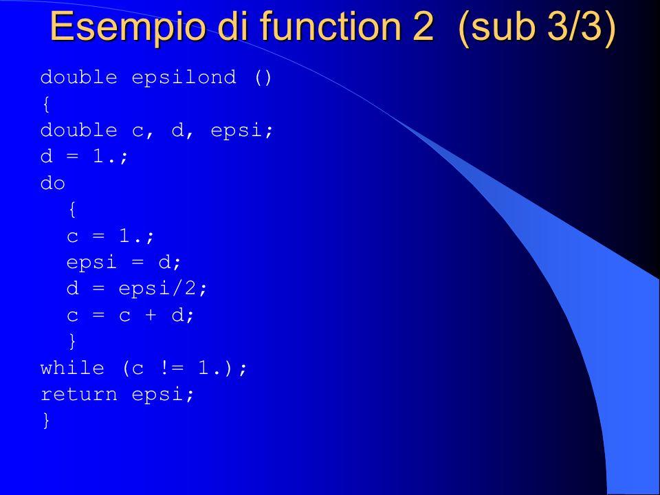 Esempio di function 2 (sub 3/3)