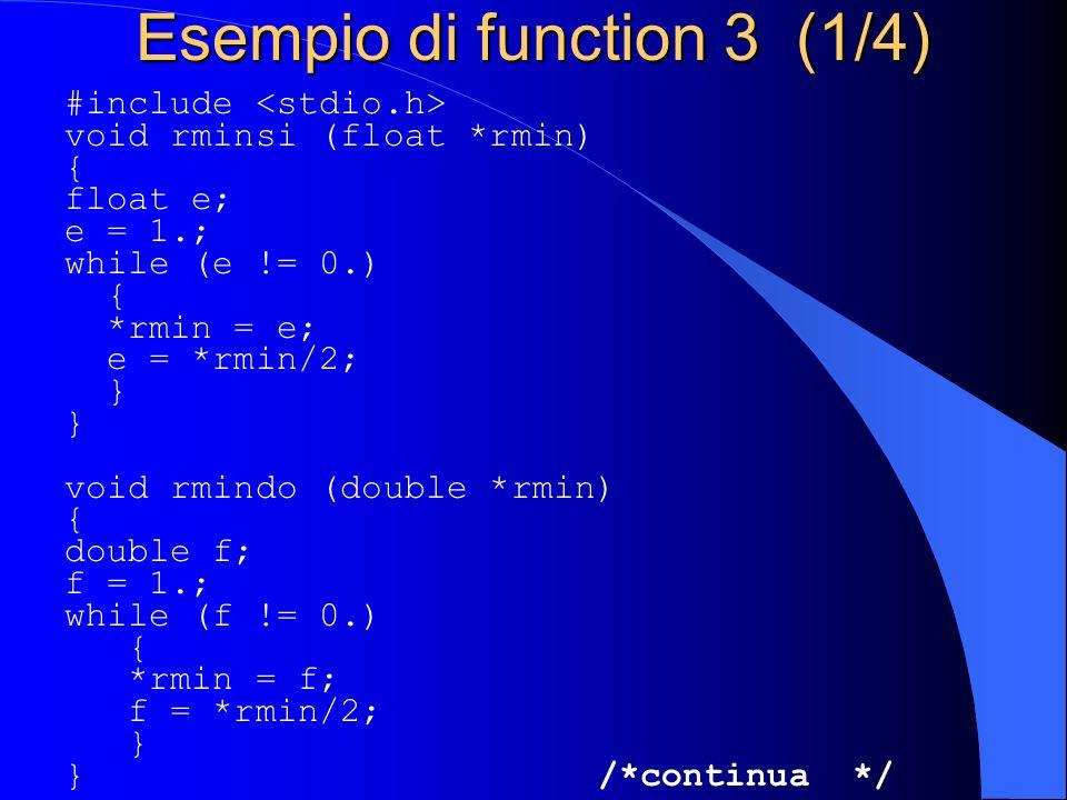 Esempio di function 3 (1/4)